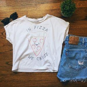 In Pizza We Crust Crop Top